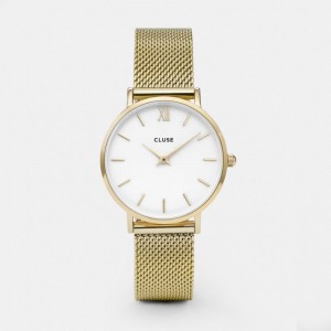 Cluse - Watch CLUSE - Midnight Mesh gold / white
