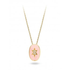 Mya Bay - Star Necklace North enameled pink