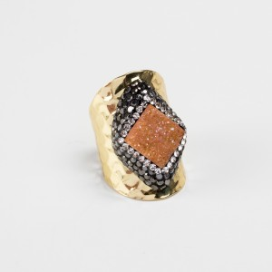 Bypa - earth stone ring