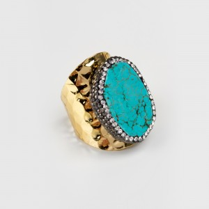 Bypa - turquoise stone ring