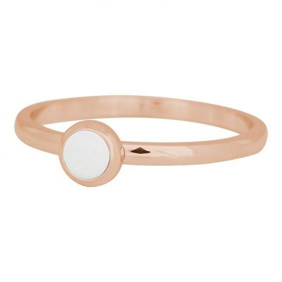 Solitaire pierre blanche rosé iXXXi - Bague et bijoux marque iXXXi