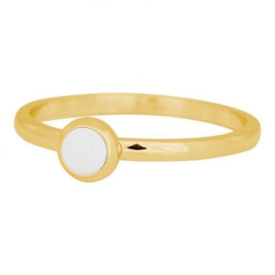Solitaire pierre blanche doré iXXXi - Bague et bijoux marque iXXXi