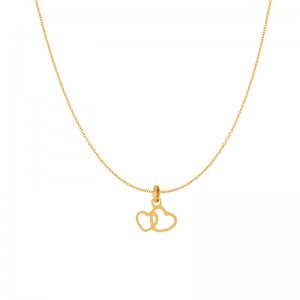 iXXXi - Pack pendant necklace double-gold heart iXXXi