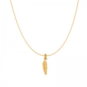 iXXXi - Pack golden feather pendant necklace iXXXi