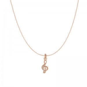 iXXXi - Pack pendant necklace pink music note iXXXi