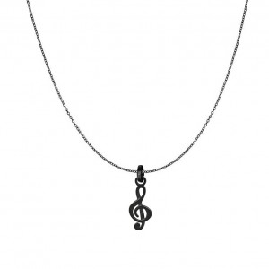 Black iXXXi Music Note Pendant Necklace Pack