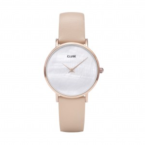 Cluse - Watch CLUSE - Midnight Rose gold pearl white / nude