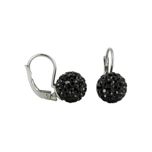 Bijou en argent - Earrings rhinestone balls