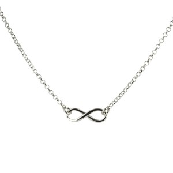 Bijou en argent - infinite silver necklace