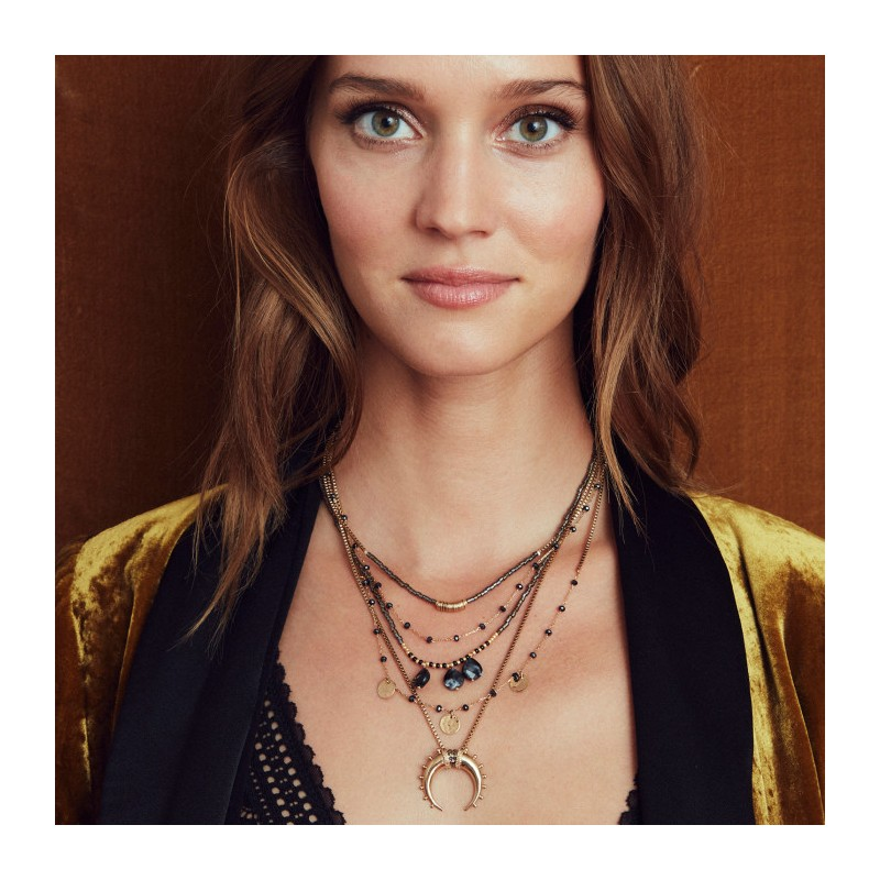 Collier Hipanema Malene gold - Bijoux et colliers Hipanema