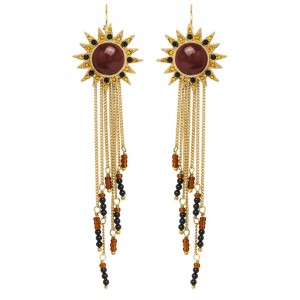 Hipanema - Earrings Casiope Choco
