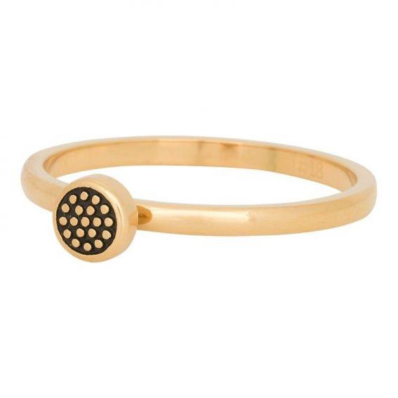 Anneau couvrant iXXXi goupille pointillée doré - Bijoux marque iXXXi