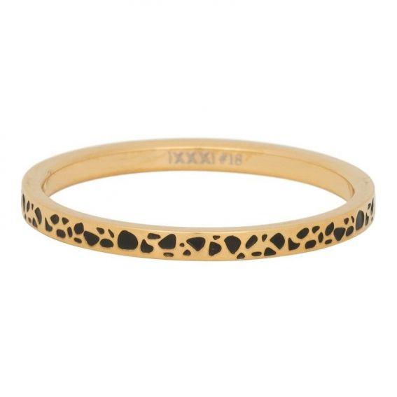 Anneau couvrant iXXXi taches dorées - Bijoux marque iXXXi