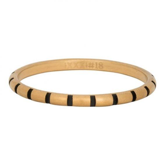 Anneau couvrant iXXXi rayures dorées - Bijoux marque iXXXi