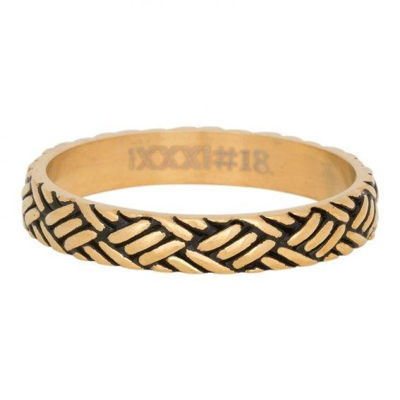 Anneau couvrant iXXXi Love knot doré - Bijou et bague de marque iXXXi