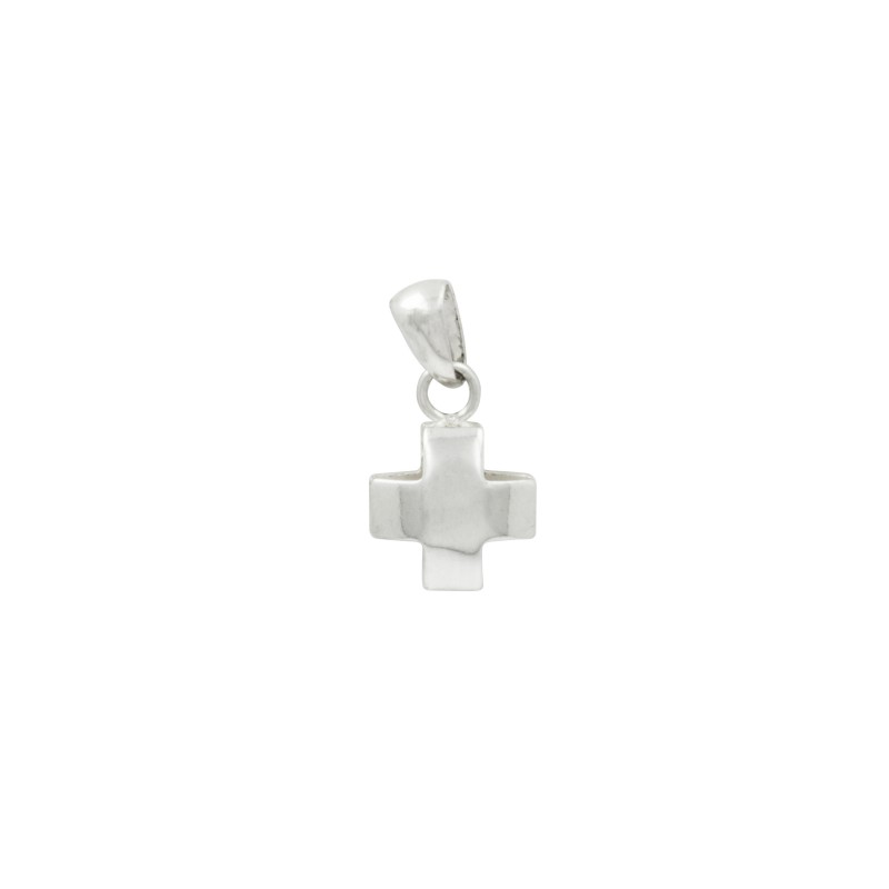 Bijou en argent - square rounded cross small