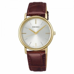 Seiko - Classic Women watches brown leather strap Quartz