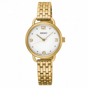 Seiko - Women watches CLASSIC plated steel Quartz Crystals