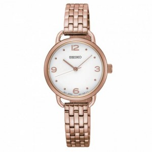 Seiko - Women watches CLASSIC steel rose gold Quartz Crystals