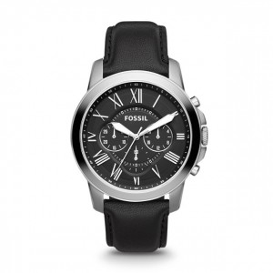 Fossil - Watch Grant Leather - Black