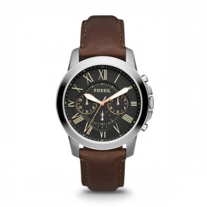 Fossil - Watch Grant Leather - Brown