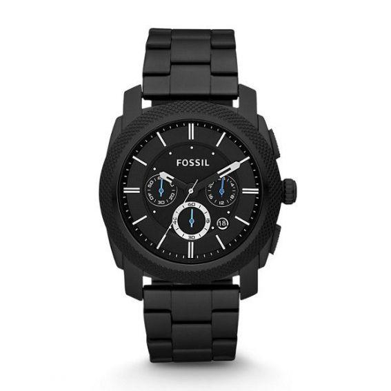 Montre Machine chronographe en acier inoxydable - Noir - Montre Fossil pour homme