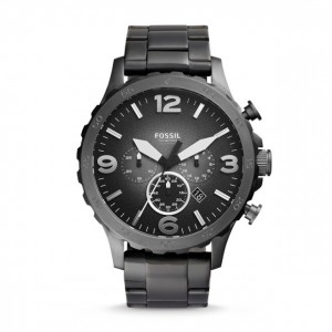 Fossil - Nate Gray Stainless Steel Watch