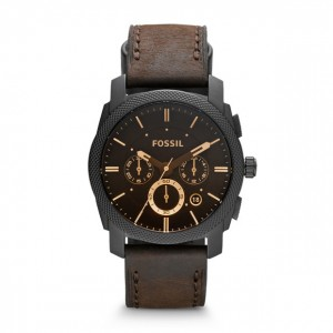 Fossil - Watch Machine leather chronograph - Brown