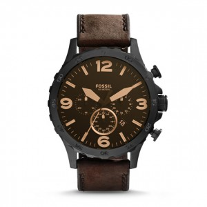 Fossil - Nate Watch Chronograph Leather - Brown