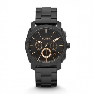 Fossil - Watch Machine Stainless Steel Chronograph - Black