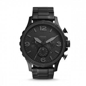 Fossil - Nate Stainless Steel Watch - Black