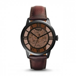 Fossil - Watch Townsman automatic brown leather