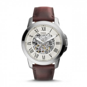 Fossil - Grant Show automatic brown leather