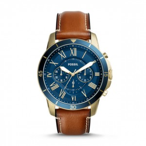 Fossil - Grant Watch Sport Chronograph Brown Leather