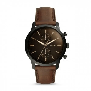 Fossil - Watch Townsman brown leather chronograph 44mm