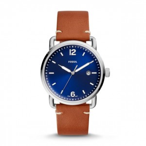 Fossil - Watch The Commuter Three hands with date brown leather