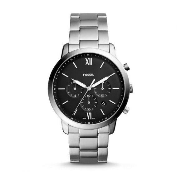Montre Neutra chronographe en acier inoxydable - Montre Fossil pour homme