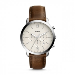 Fossil - Watch Neutra brown leather chronograph