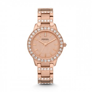 Fossil - Jesse Three-hand watch Stainless Steel - Pink Gold