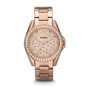Fossil - Riley multifunction Stainless Steel Watch - Rose Gold