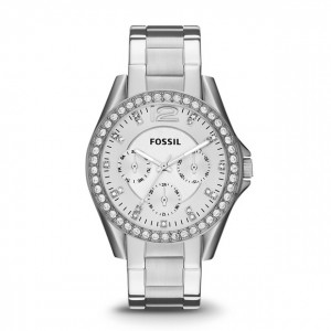 Fossil - Riley multifunction Stainless Steel Watch