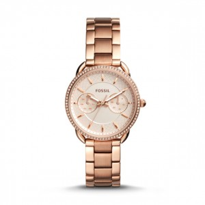 Fossil - Watch Tailor multifunction stainless steel rose gold
