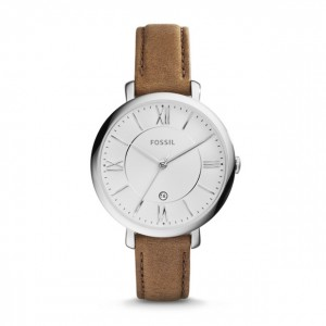 Fossil - Watch Jacqueline three-hand date + Leather - Beige