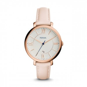 Fossil - Watch Jacqueline Leather Date function blush