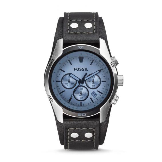 Montre Coachman chronographe en cuir - Brun