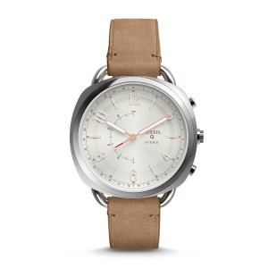 Remis à neuf montre intelligente hybride – fossil q accomplice en cuir sable – Montre Fossil