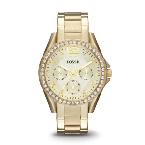 Fossil - Multifunctional Watch riley stainless steel gold