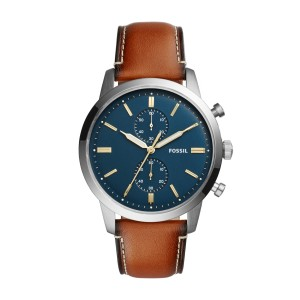 Fossil - Fossil FS5Montre Townsman Chronograph 44 mm leather