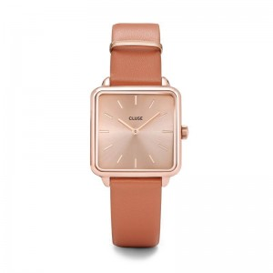 Cluse - Watch CLUSE - The Tetragon rose gold Butterscotch