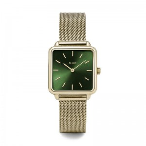 Cluse - Watch CLUSE - The gold Tetragon Forest Green